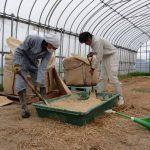 自然栽培米の育苗床土の準備が着々と進んでいます。(^_^)