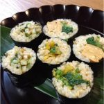 恵方巻きに玄米のお寿司もおいしい(^○^)