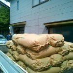 地主へのコシヒカリ飯米の配達