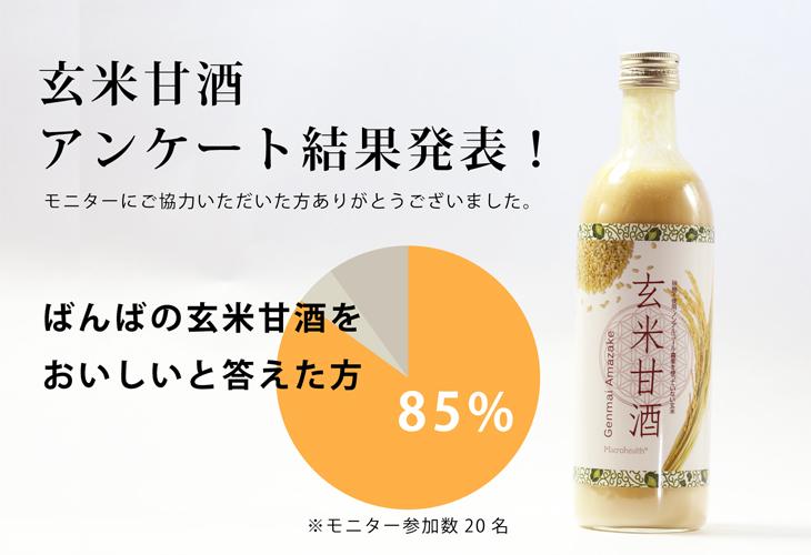 玄米甘酒アンケート結果
