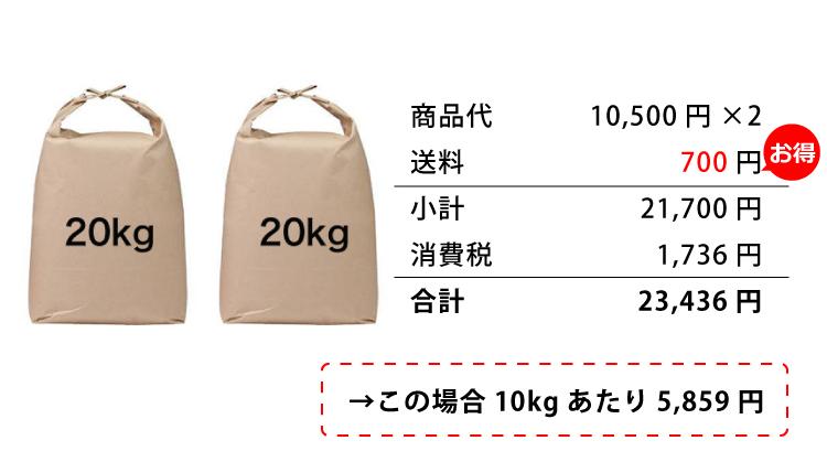 米袋20kg送料例